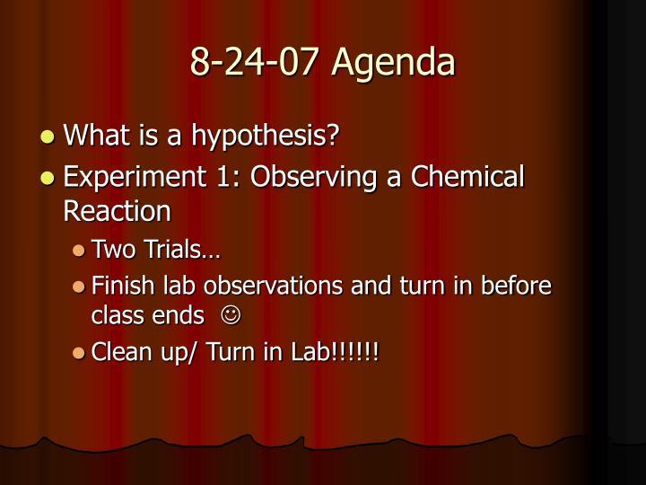 8-24-07 Agenda
