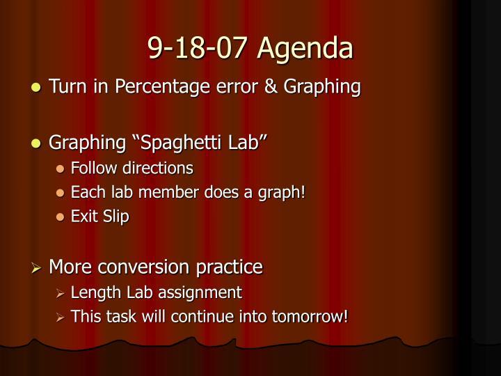 9-18-07 Agenda