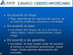 ejemplo credito hipotecario