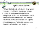 agency initiatives