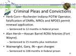 criminal pleas and convictions1