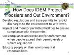 how does idem protect hoosiers and out environment