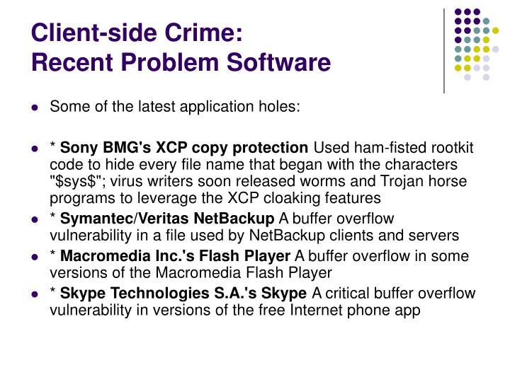 Client-side Crime:
