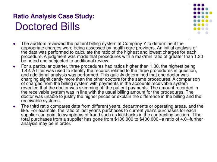 Ratio Analysis Case Study: