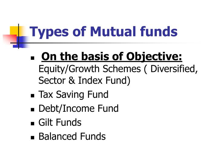 types of mutual funds n.