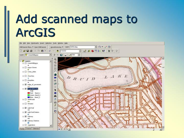 Add scanned maps to