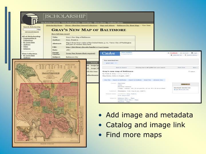 Add image and metadata