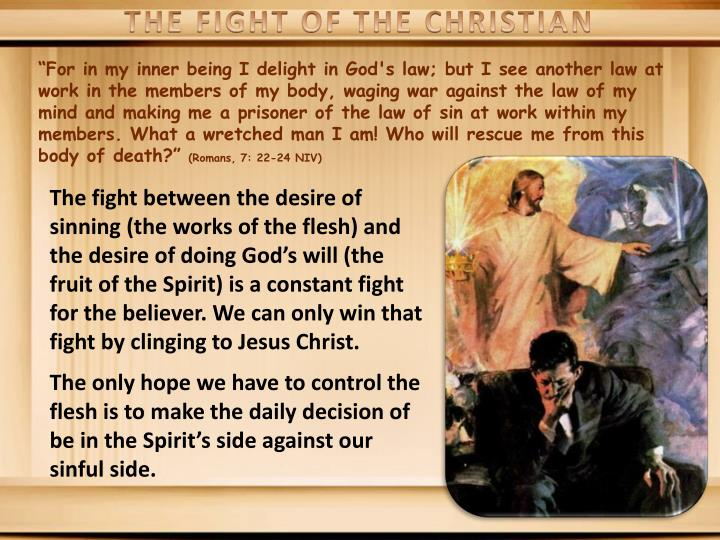 THE FIGHT OF THE CHRISTIAN