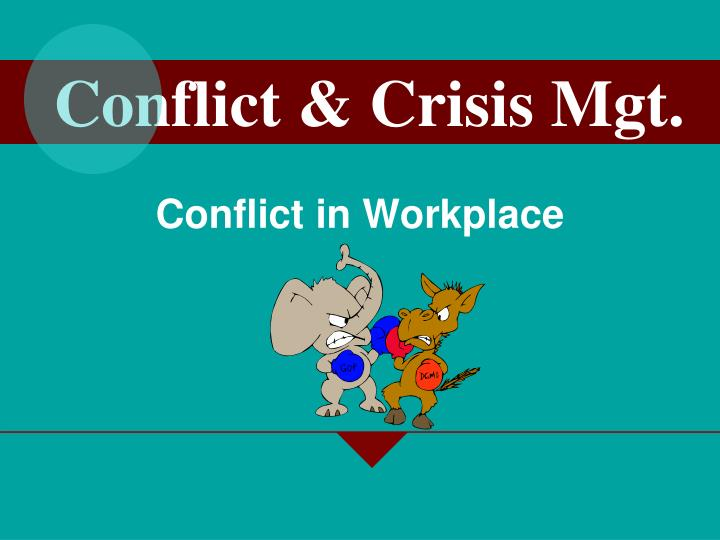 conflict in workplace n.