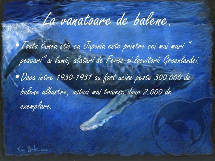 La vanatoare de balene