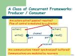 a class of concurrent frameworks producer consumer