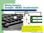 mixing domains example mems accelerometer