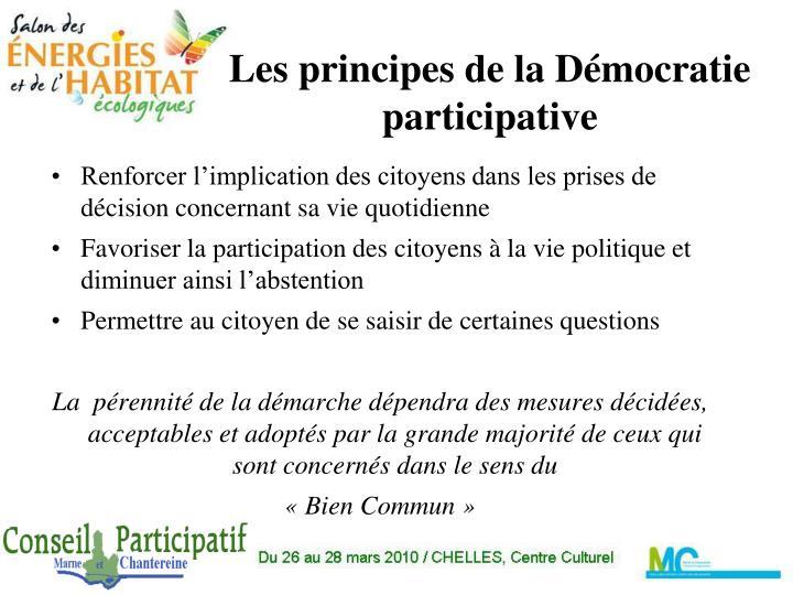Les principes de la d mocratie participative