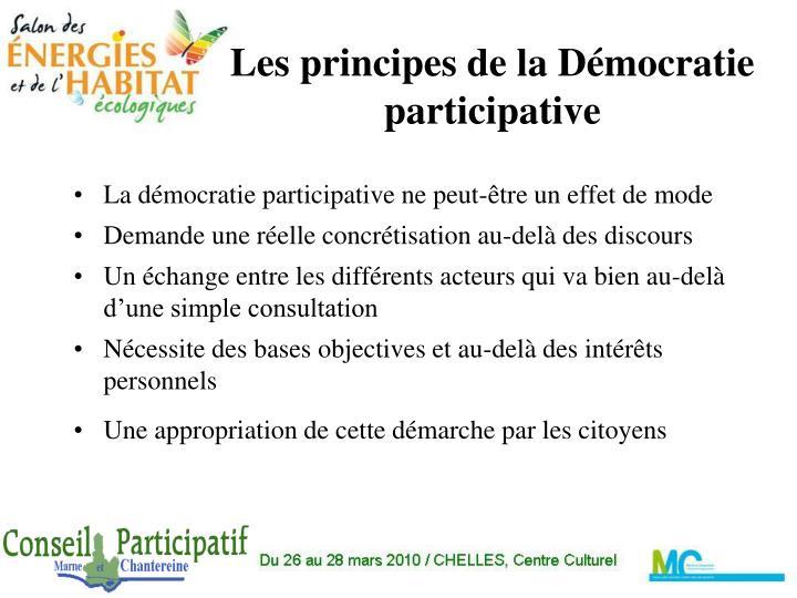 Les principes de la Démocratie participative