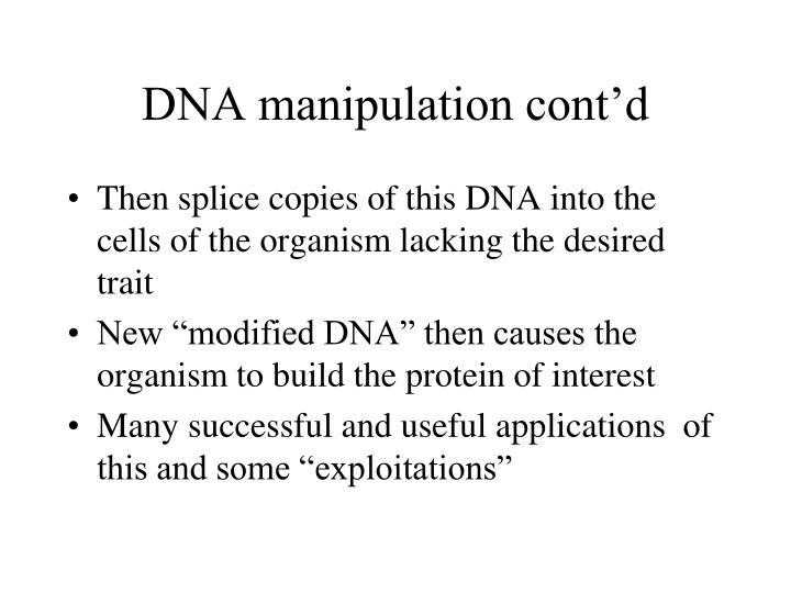 DNA manipulation cont'd