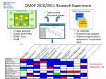 omop 2010 2011 research experiment