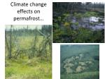 climate change effects on permafrost