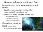 human influence on boreal fires