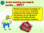 avoid washing raw meat poultry why