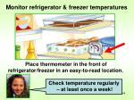 monitor refrigerator freezer temperatures