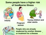 some people have a higher risk of foodborne illness