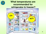 what temperatures are recommended for refrigerator freezer
