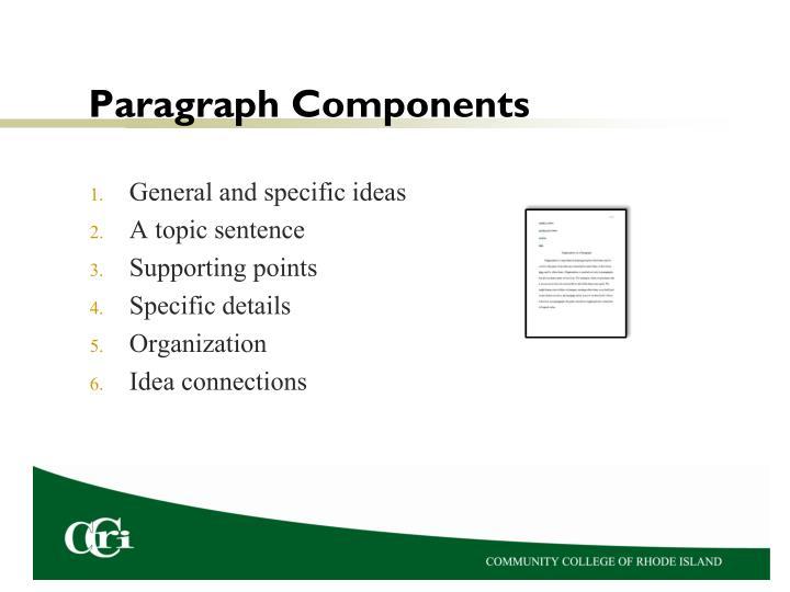 Paragraph components