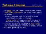 technique i indexing