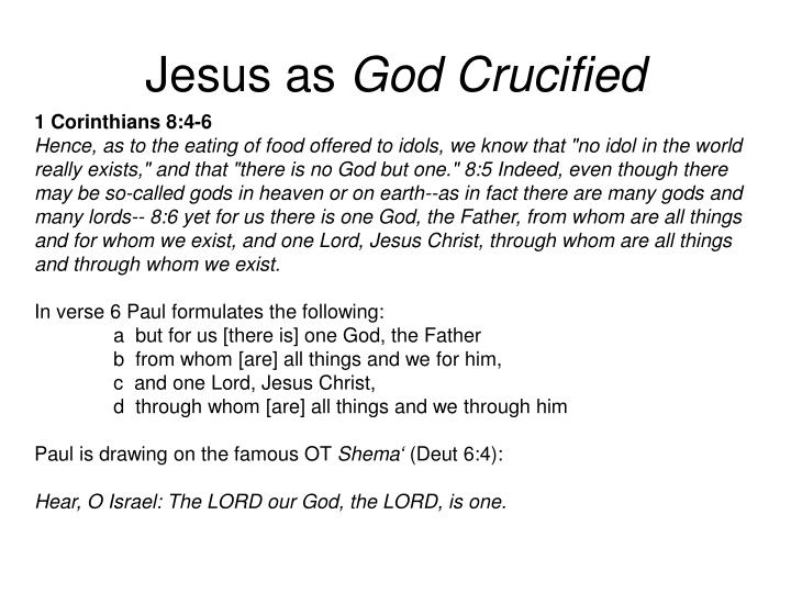 Jesus as god crucified1