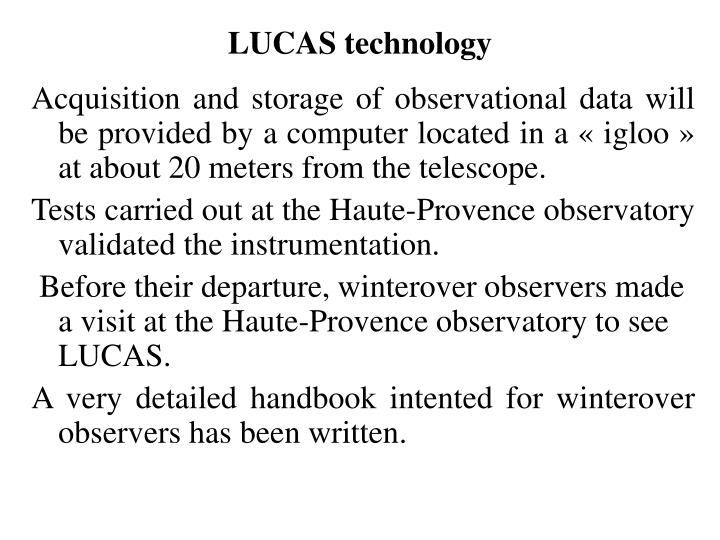 LUCAS technology