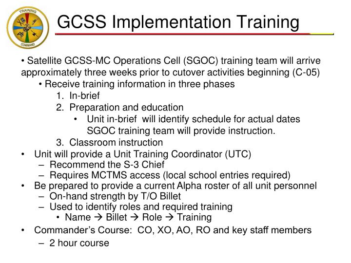 GCSS Implementation