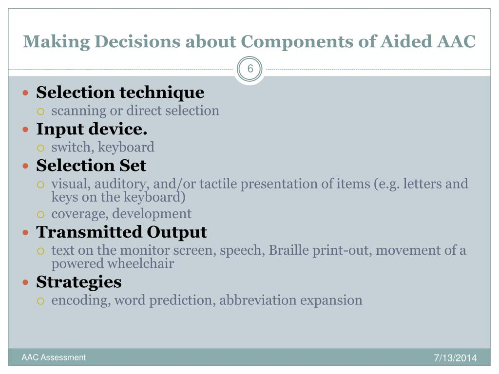 PPT - AAC Assessment PowerPoint Presentation - ID:1705549