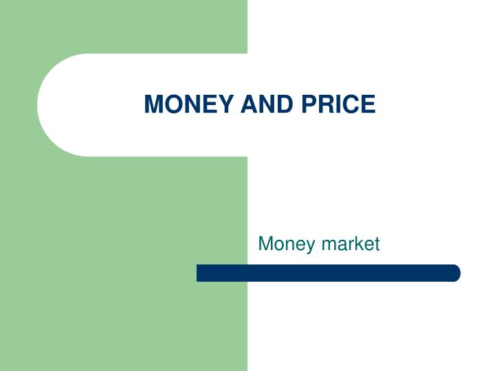 money and price n.
