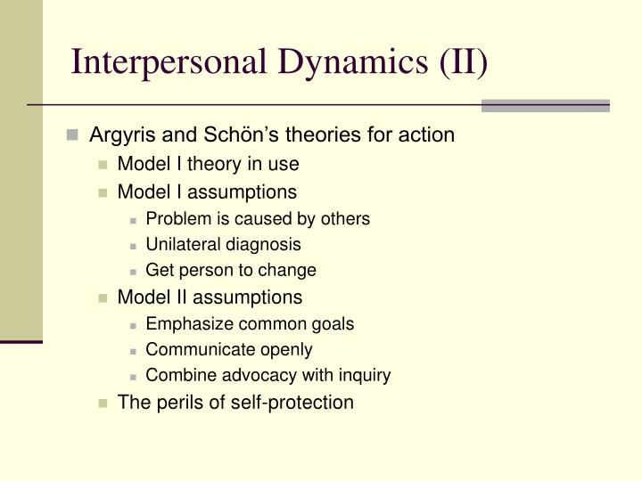 theories about interpersonal dynamics Interpersonal attraction: what matters first there are many theories and principles that the basic concept of the interpersonal attraction principle.