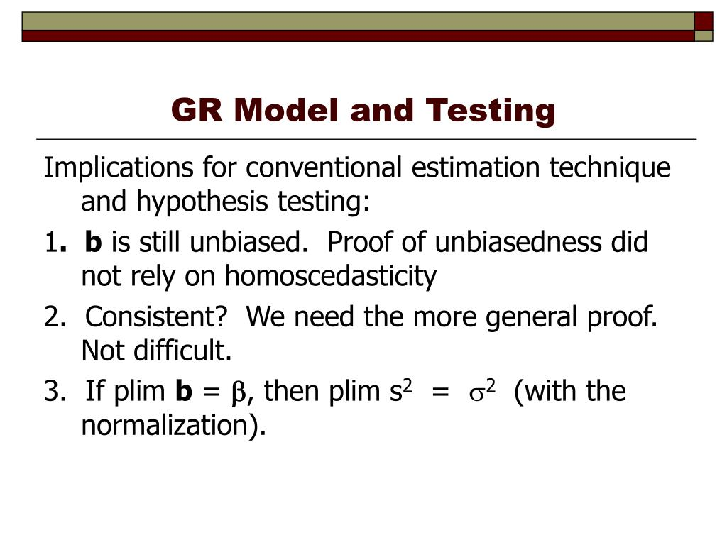 PPT - Applications of the Generalized Regression Model PowerPoint