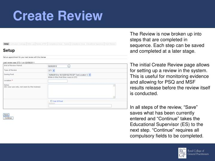 Create Review