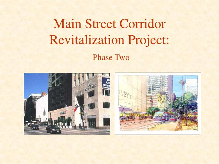 main street revitalization essay Introductory informationin small towns across north america, downtowns are in a state of physical, economic and social decline this can be improved by the revitalization of the town's main street district, motivating social, cultural, and economic gro.