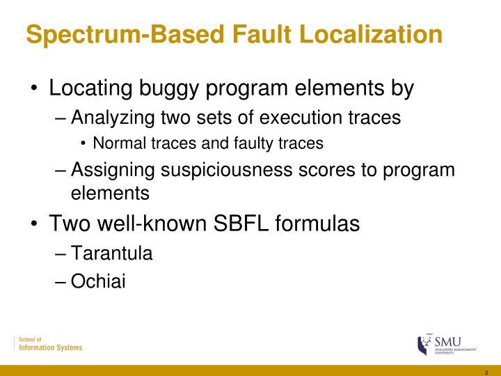Spectrum based fault localization