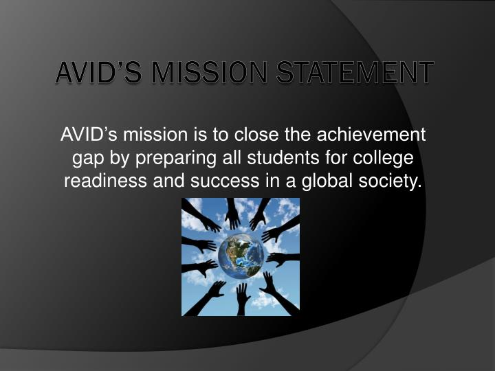 avids mission is to close the achievement gap by preparing