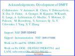 acknowledgements development of dmft