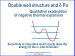 double well structure and d pu