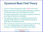 dynamical mean field theory