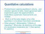 quantitative calculations