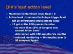 epa s lead action level
