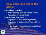how does lead get to the glass
