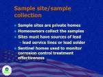 sample site sample collection