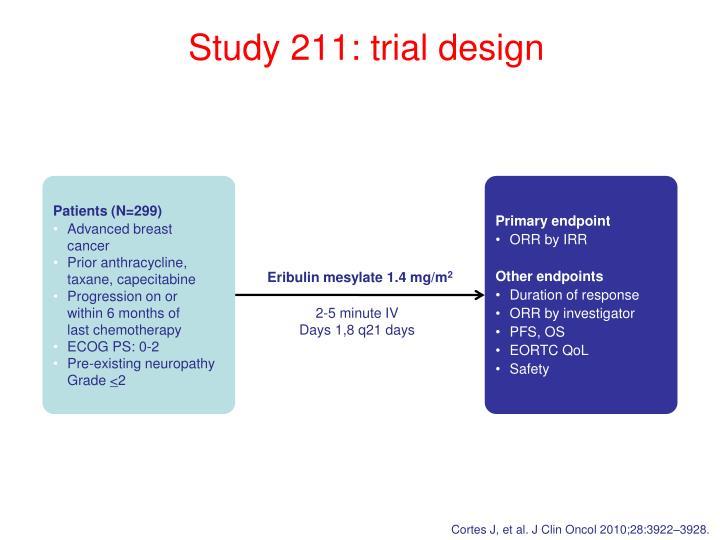 Study 211: trial design
