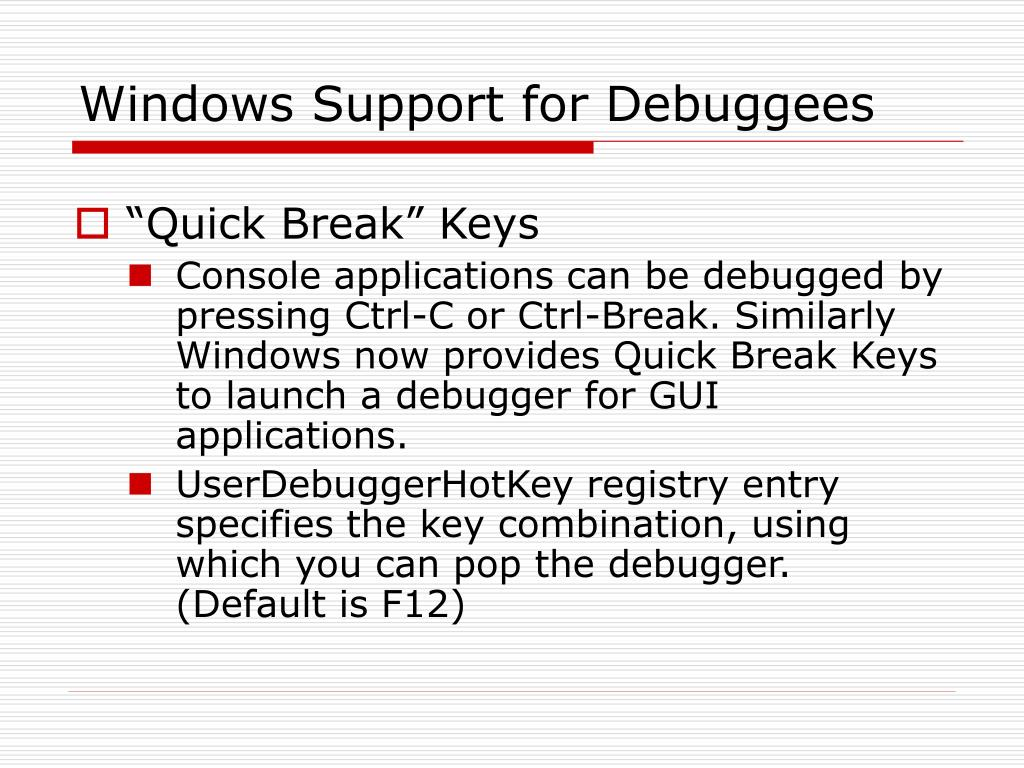 PPT - Debugging Applications for Microsoft  NET and