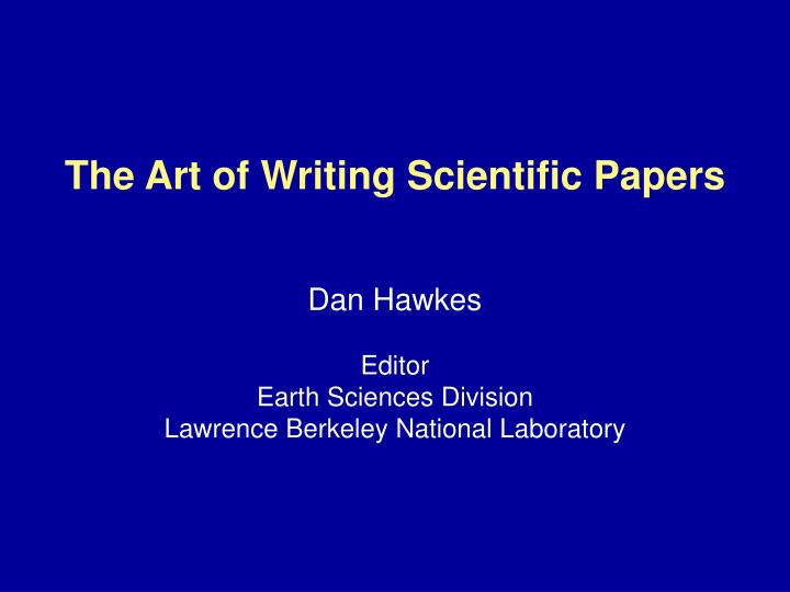 the art of writing scientific papers n.