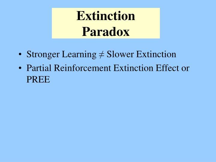 Extinction Paradox